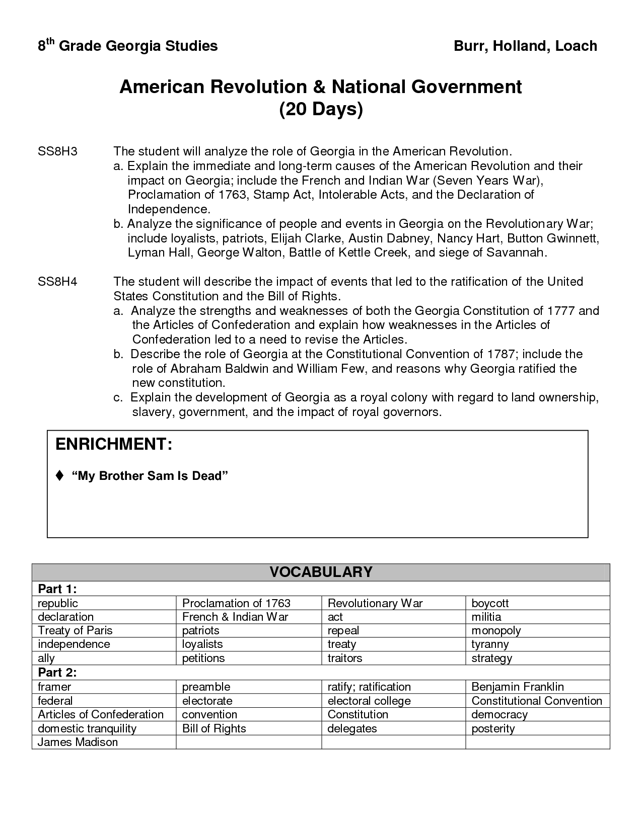 12 Best Images Of Revolutionary War Worksheets 8th Grade
