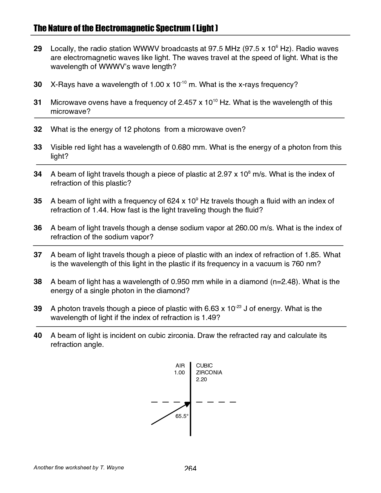 18 Best Images Of Light Worksheets With Answers