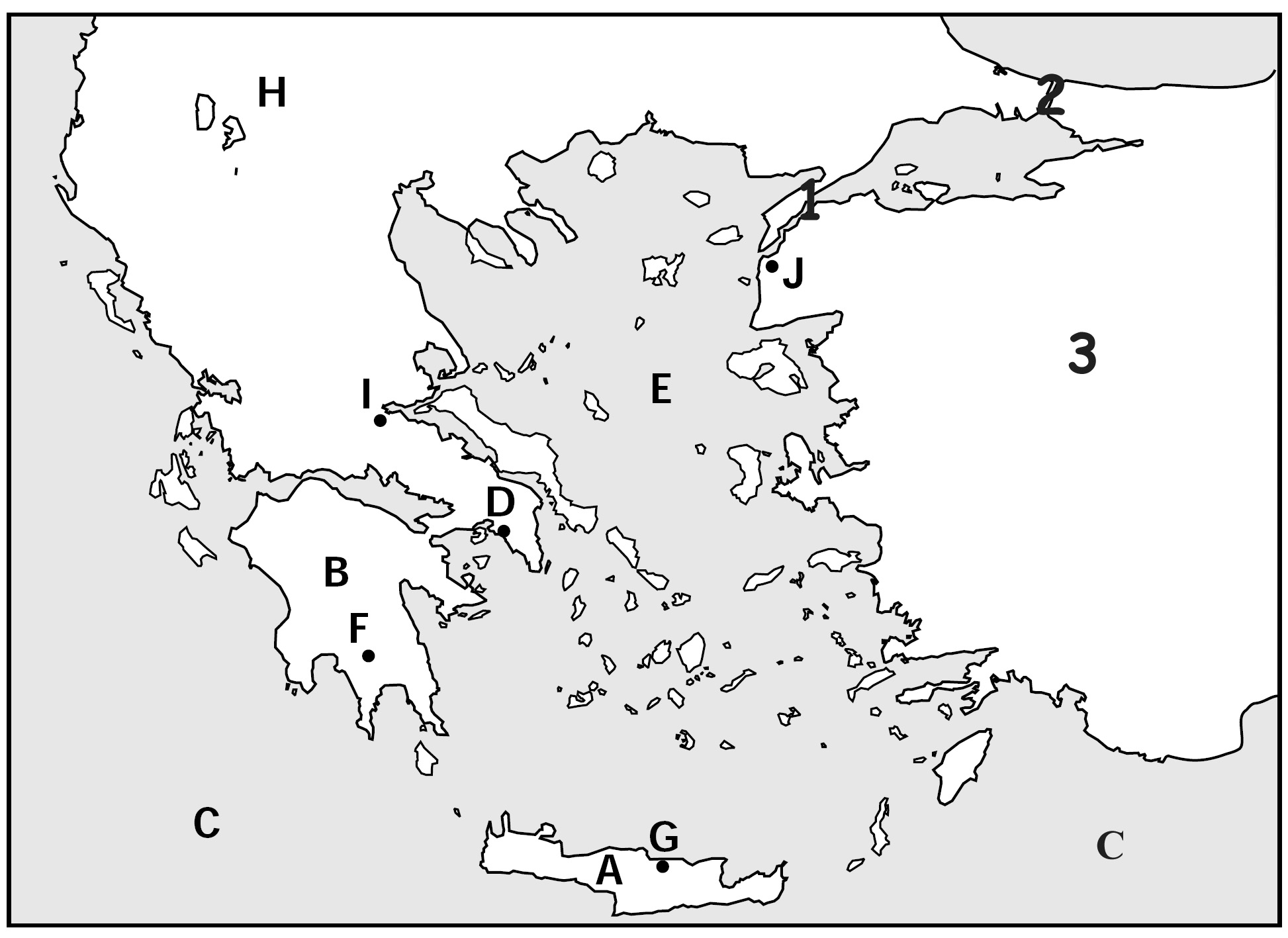 9 Best Images Of Blank Map Of Greece Worksheet