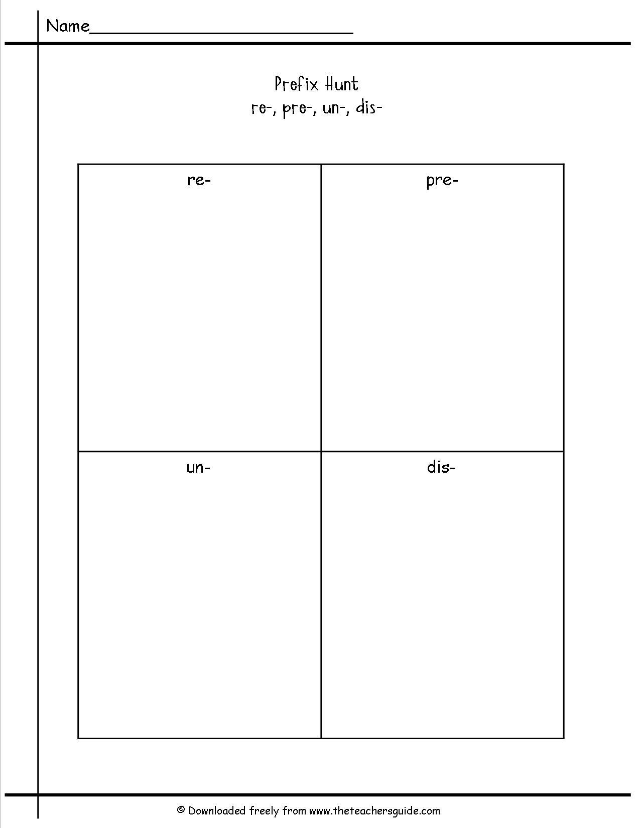 13 Best Images Of Prefix Suffix Worksheets