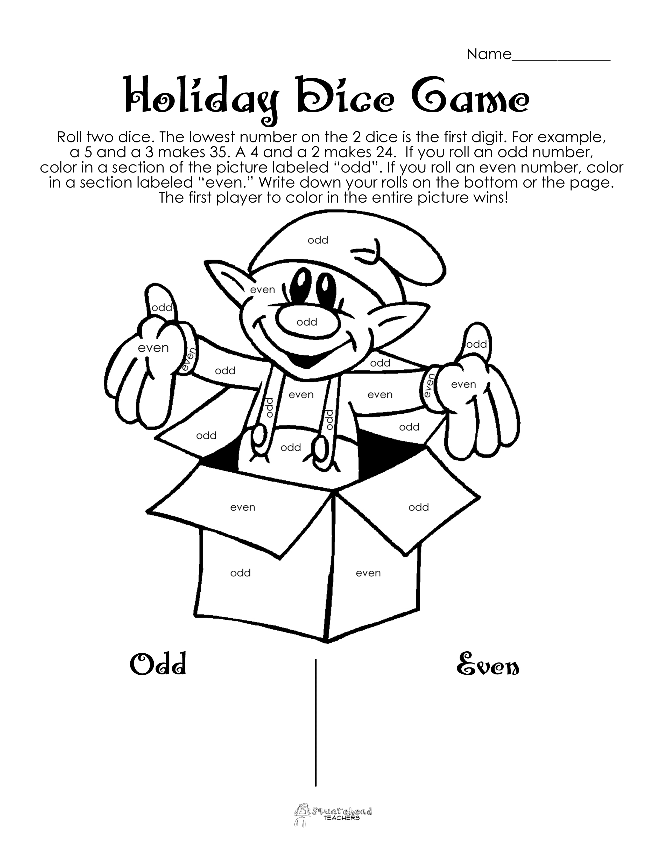 14 Best Images Of Addition Dice Game Worksheet