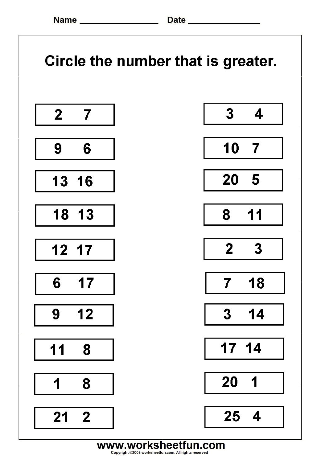 13 Best Images Of Ordering Numbers Worksheets 2nd Grade