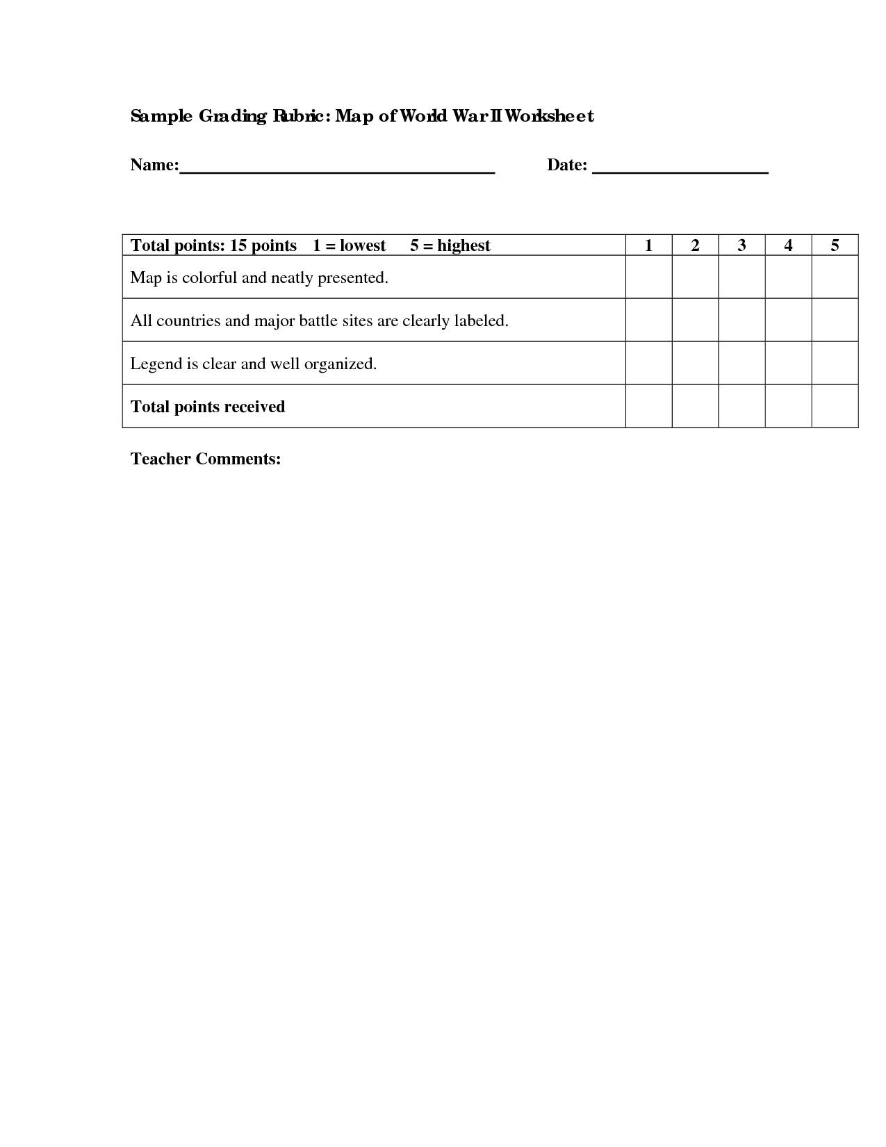 13 Best Images Of World War 2 Printable Worksheets