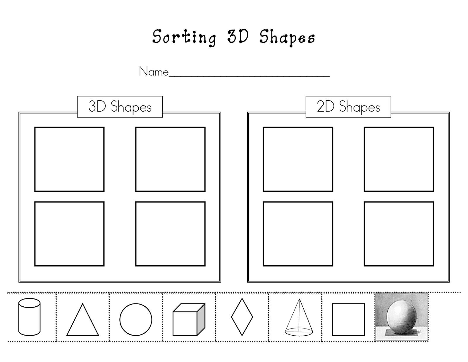 Shape Worksheet Category Page 1
