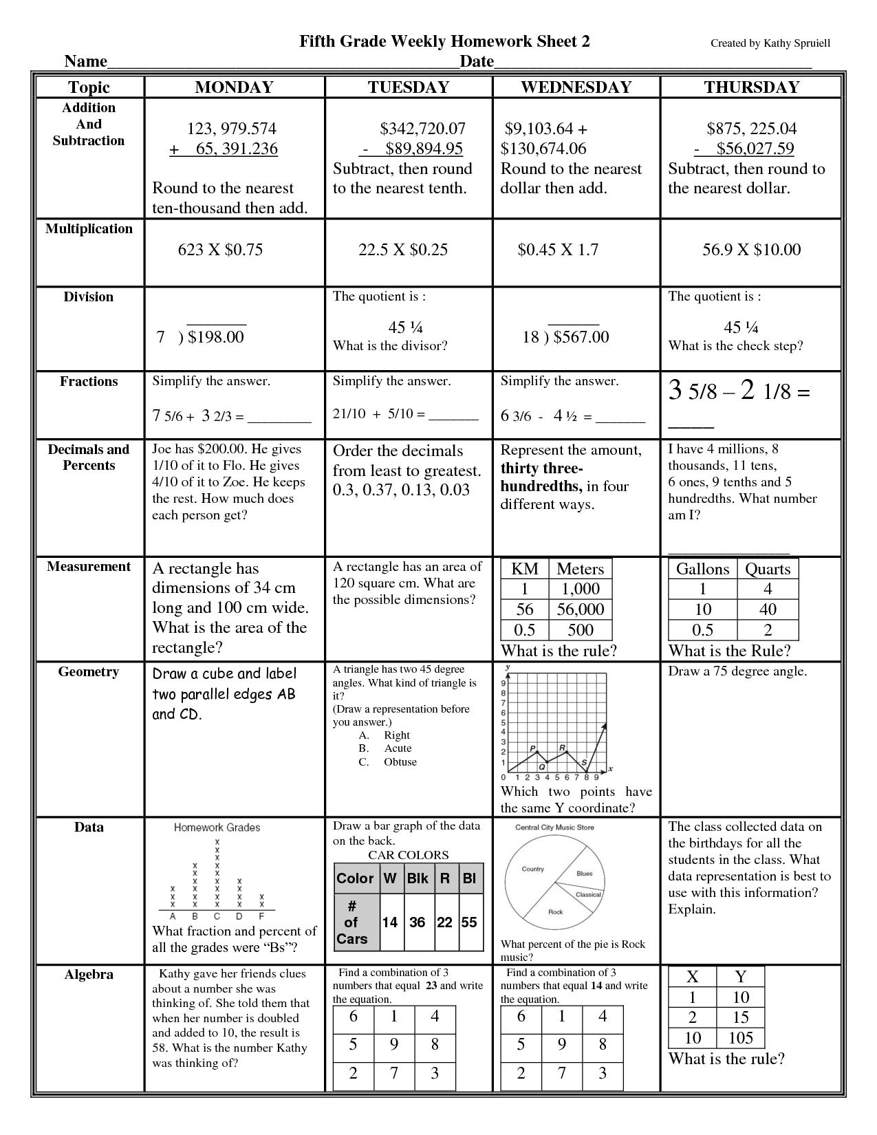 13 Best Images Of Homework Worksheets With Answers
