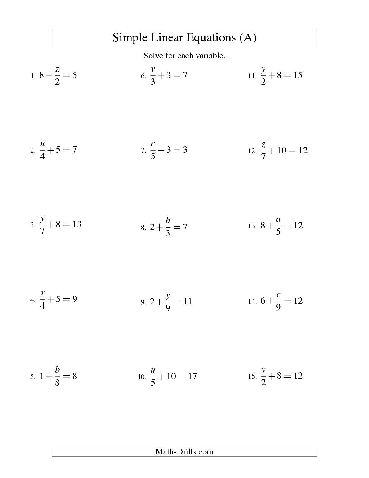 13 Best Images Of Literal Equations Worksheet Algebra 2