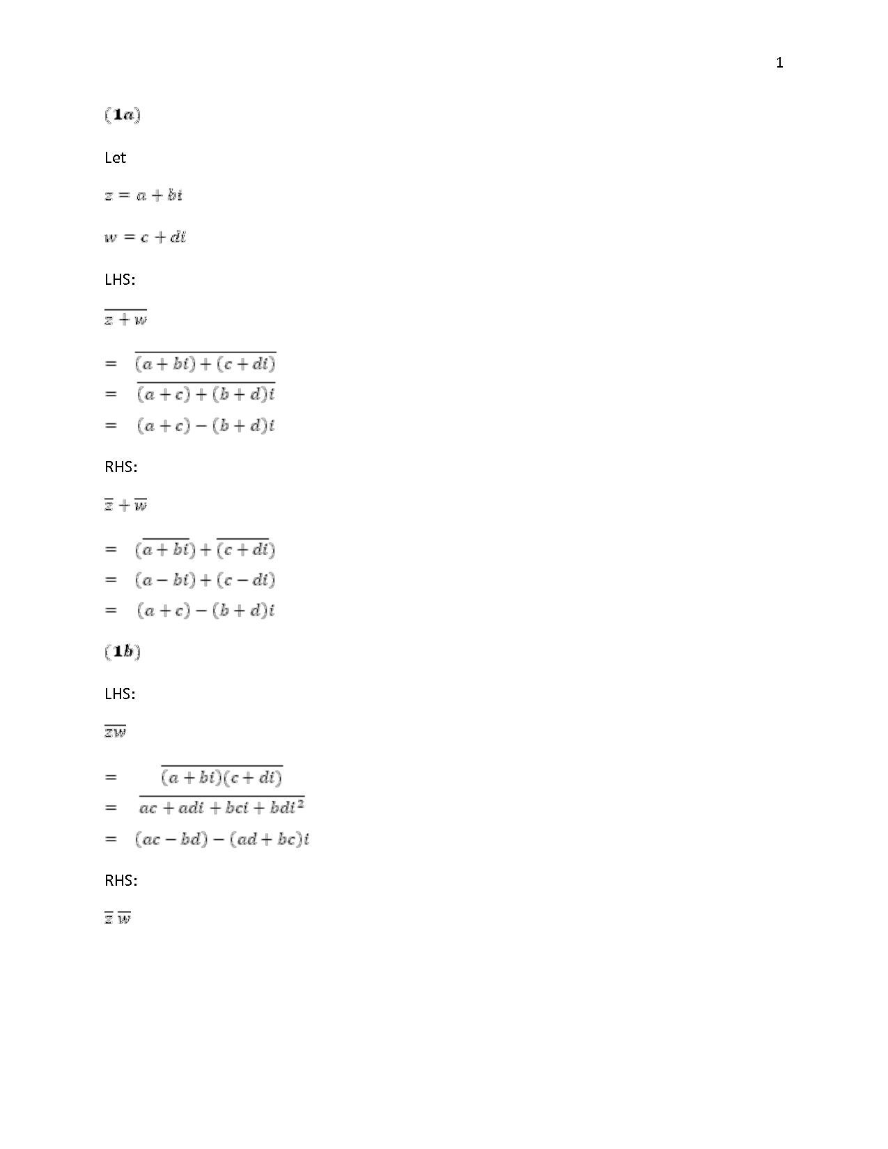 Adding Complex Numbers Worksheet
