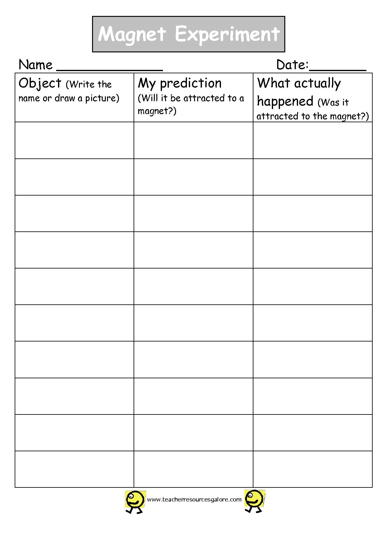 9 Best Images Of Magnet Worksheets For 2nd Grade