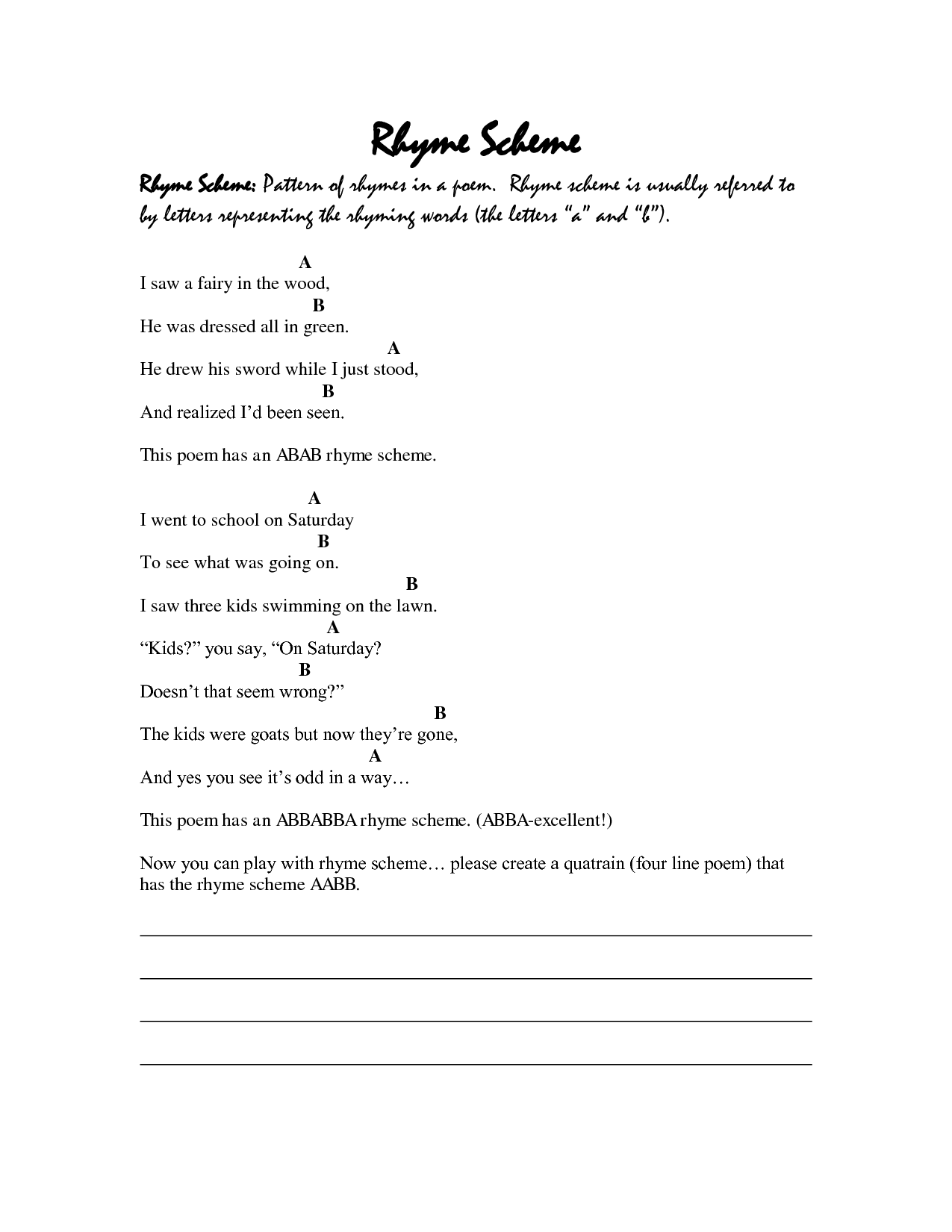 Vpk Worksheet Rhyming