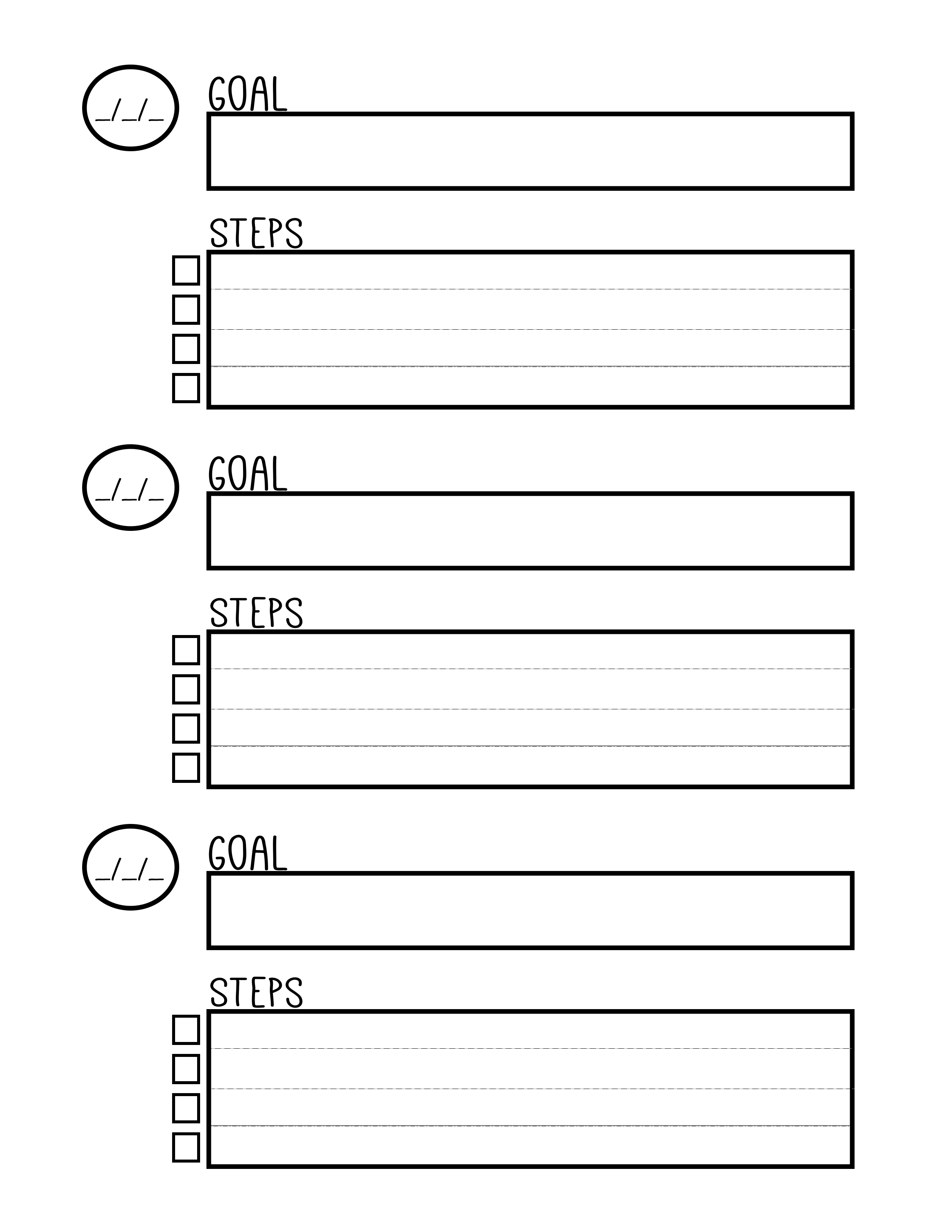 18 Best Images Of 5 Year Goal Planning Worksheet