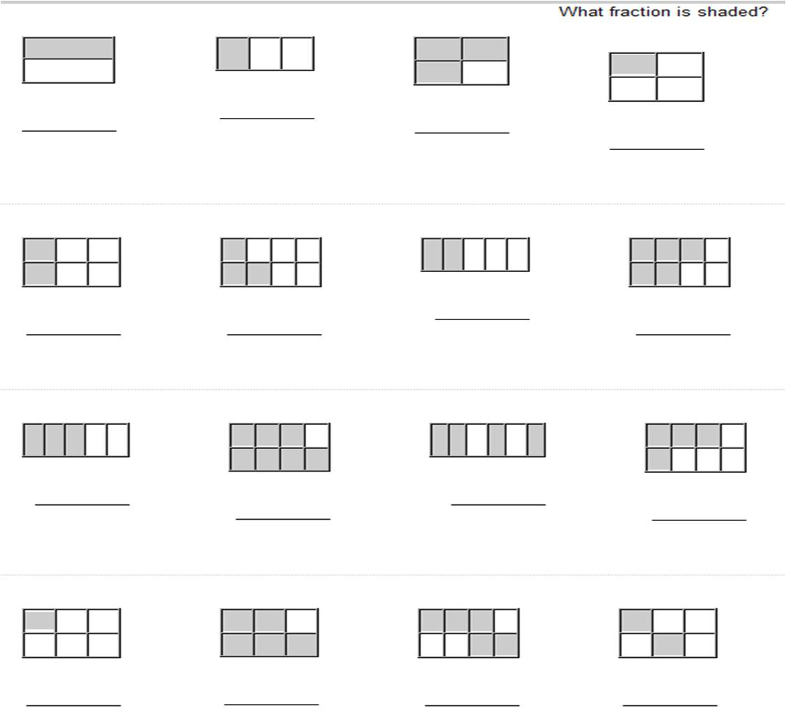 15 Best Images Of Identifying Fractions Worksheet Half