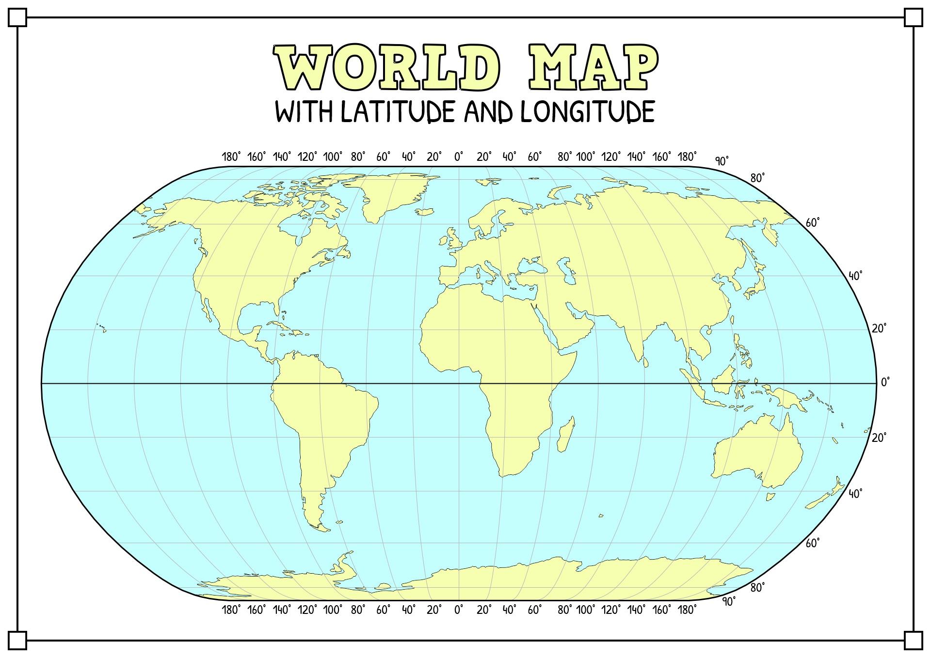 14 Best Images Of Label Latitude Longitude Lines Worksheet
