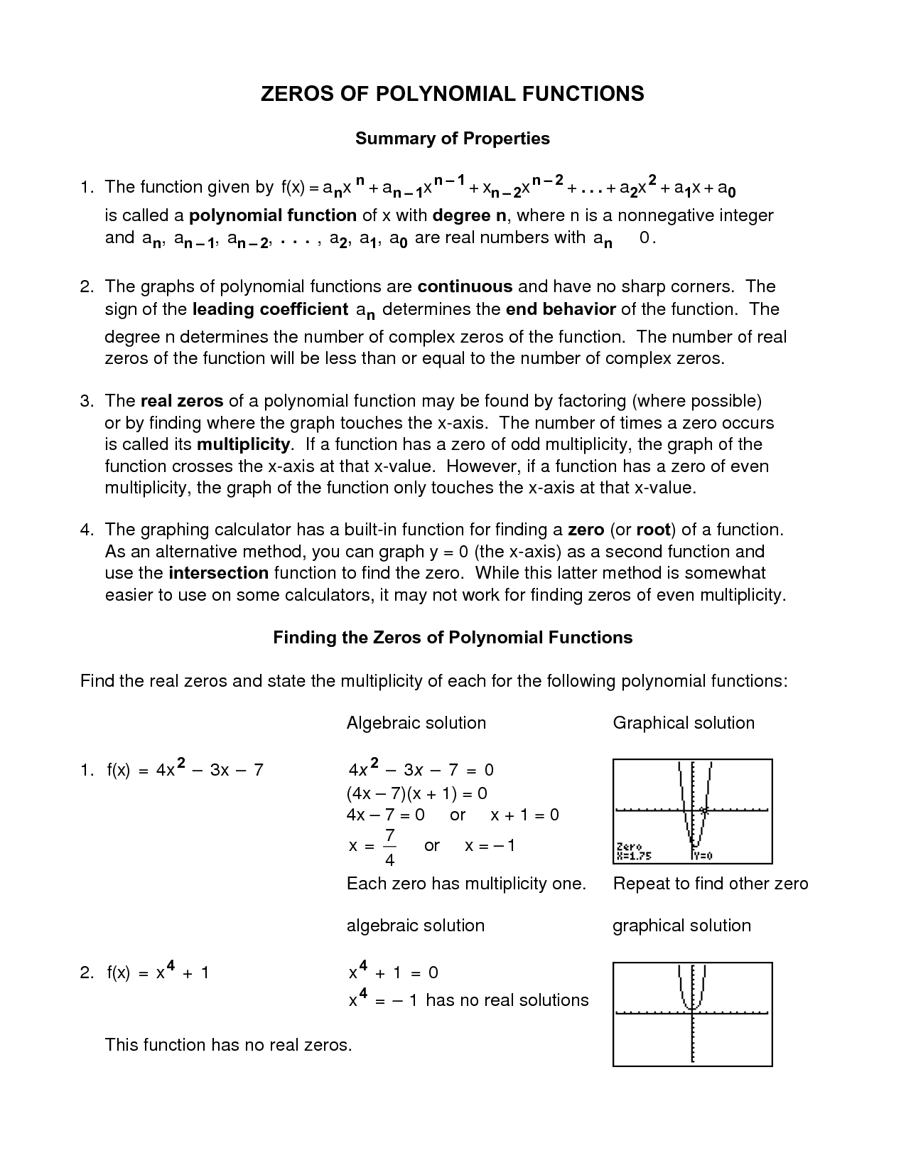 14 Best Images Of Polynomial Worksheets Printable