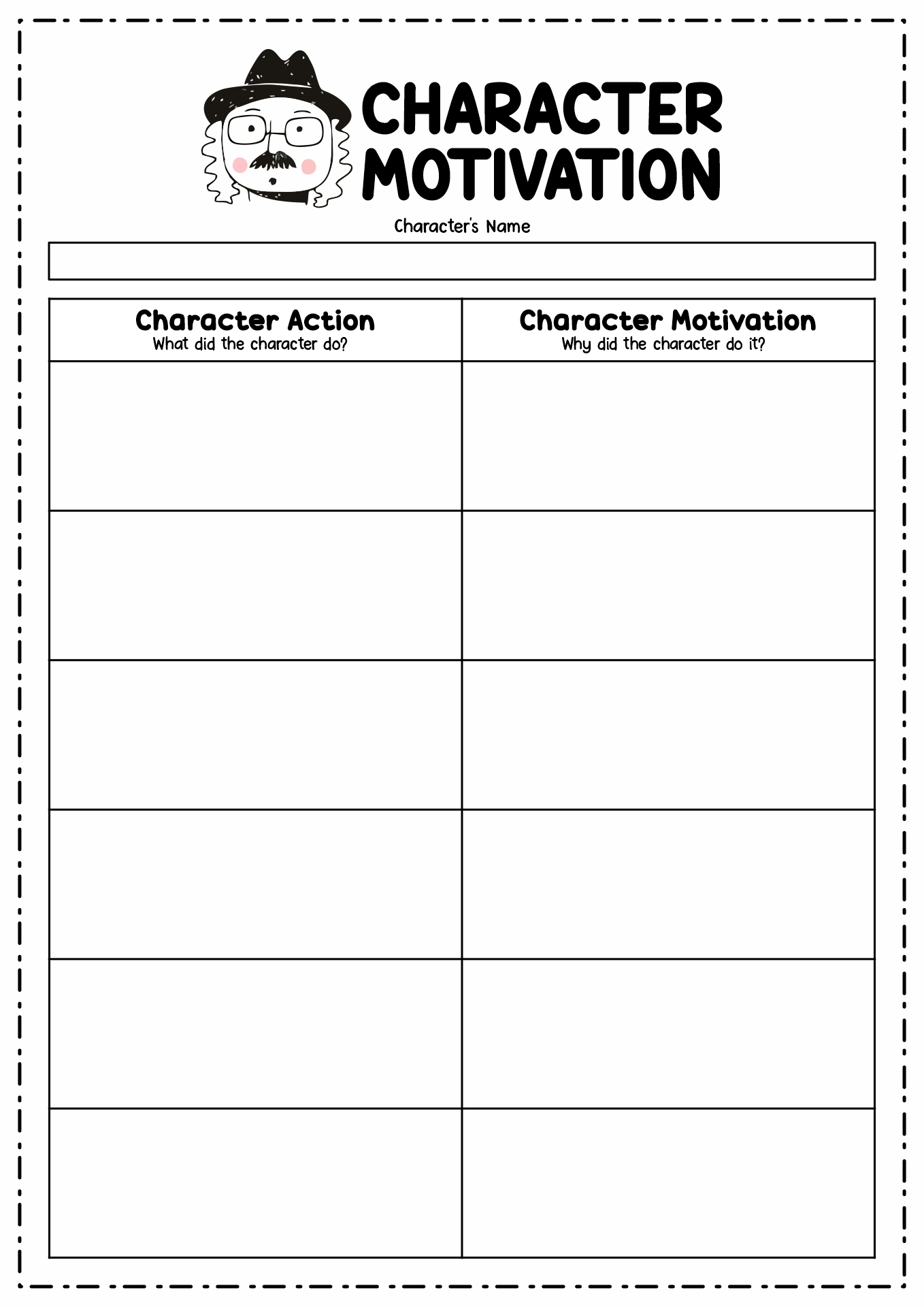 Motivation Worksheet For