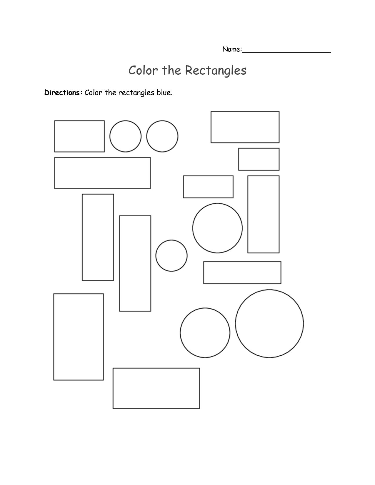6 Best Images Of Square Rectangle Preschool Worksheets