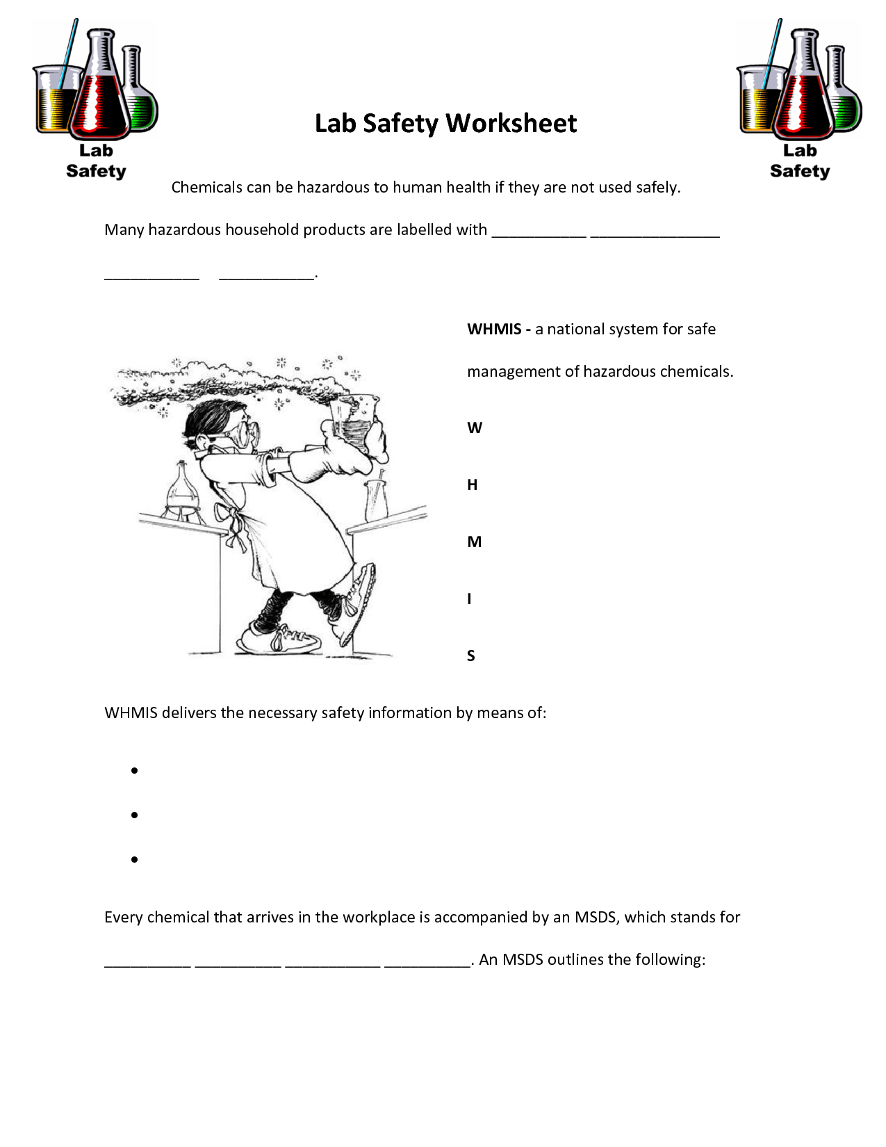 Safety Awareness Worksheets