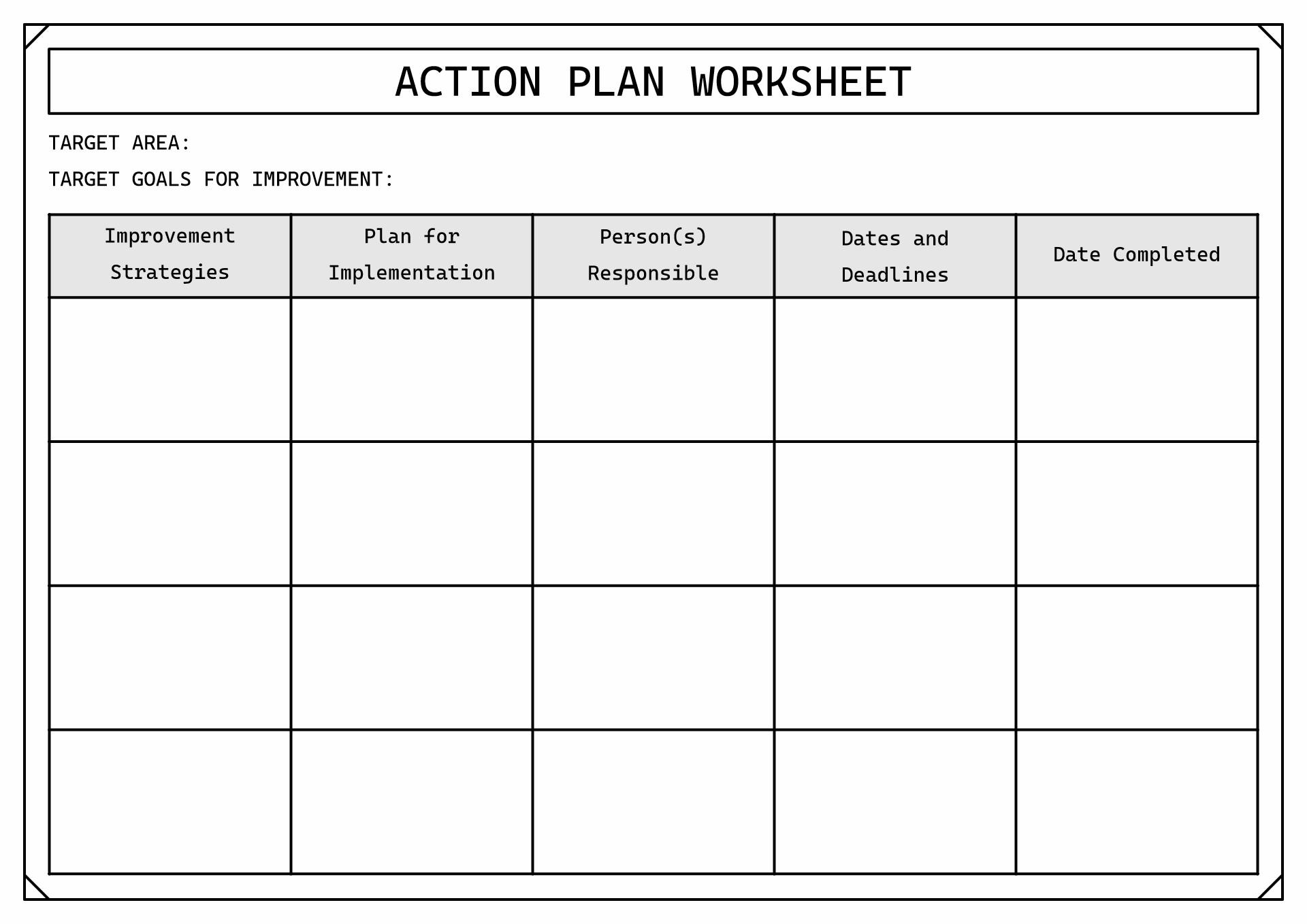 14 Best Images Of Career Goal Planning Worksheet