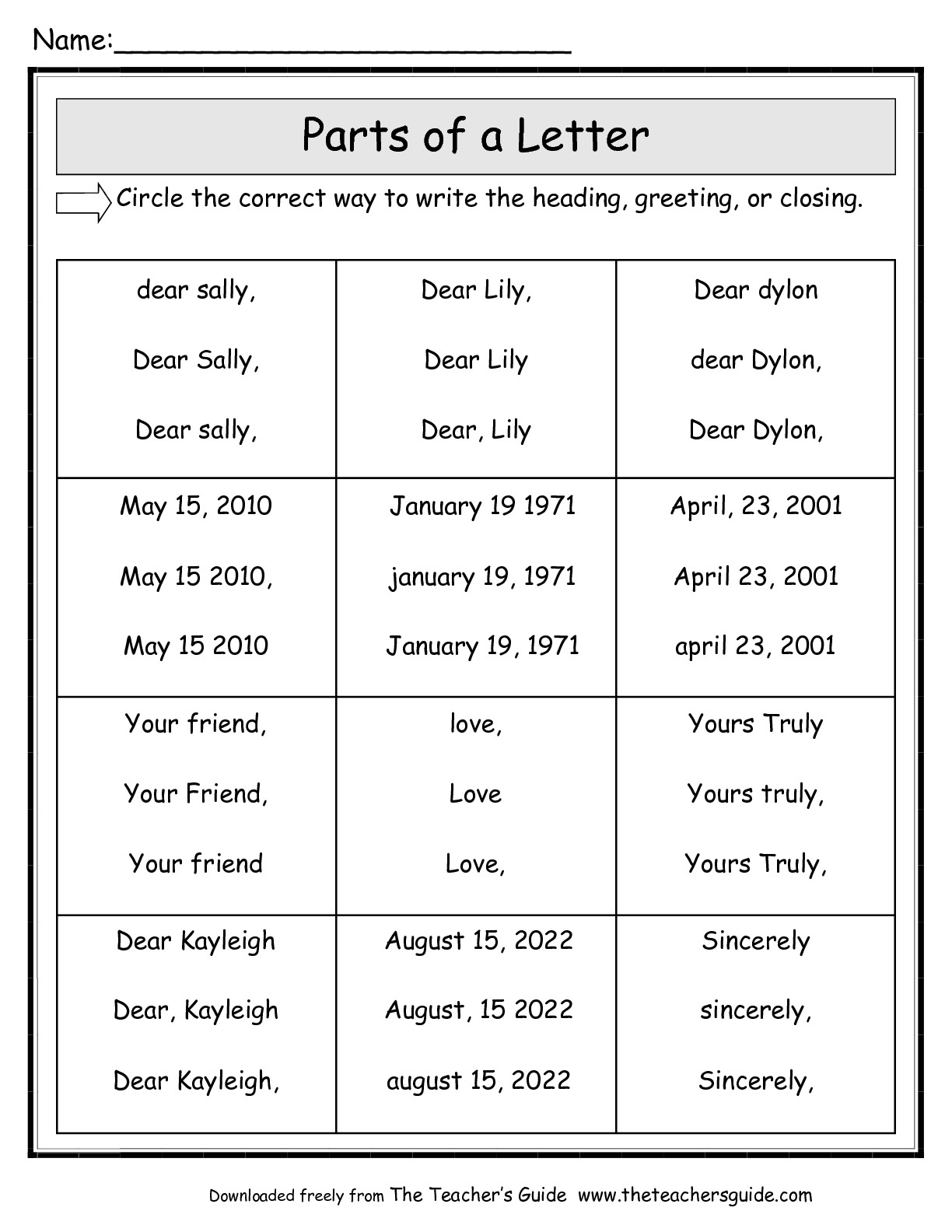 14 Best Images Of Identify Letters Worksheets