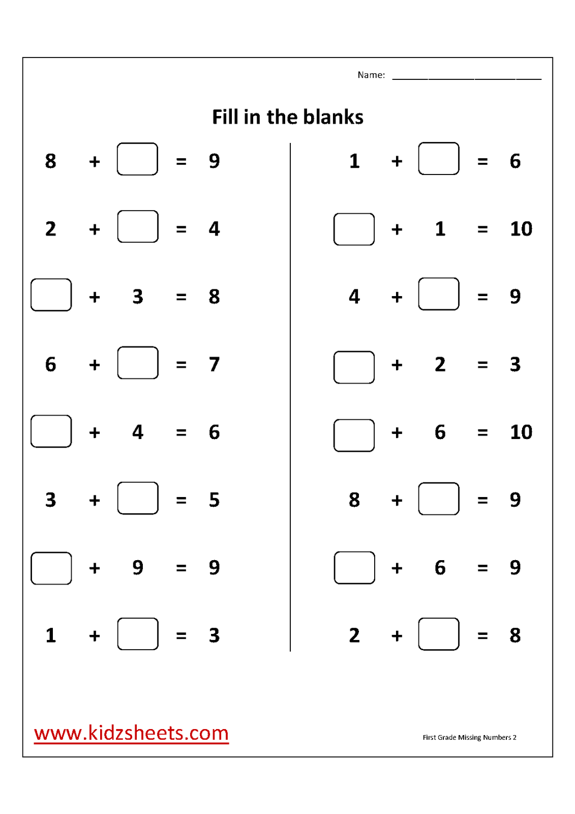 1st Grade Worksheet Category Page 5