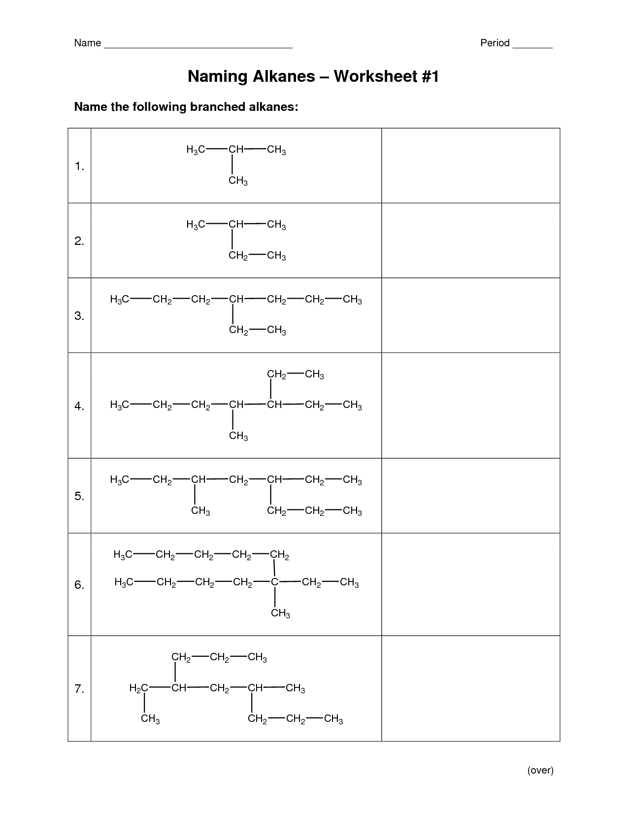 10 Best Images Of Organic Chemistry Nomenclature Worksheet