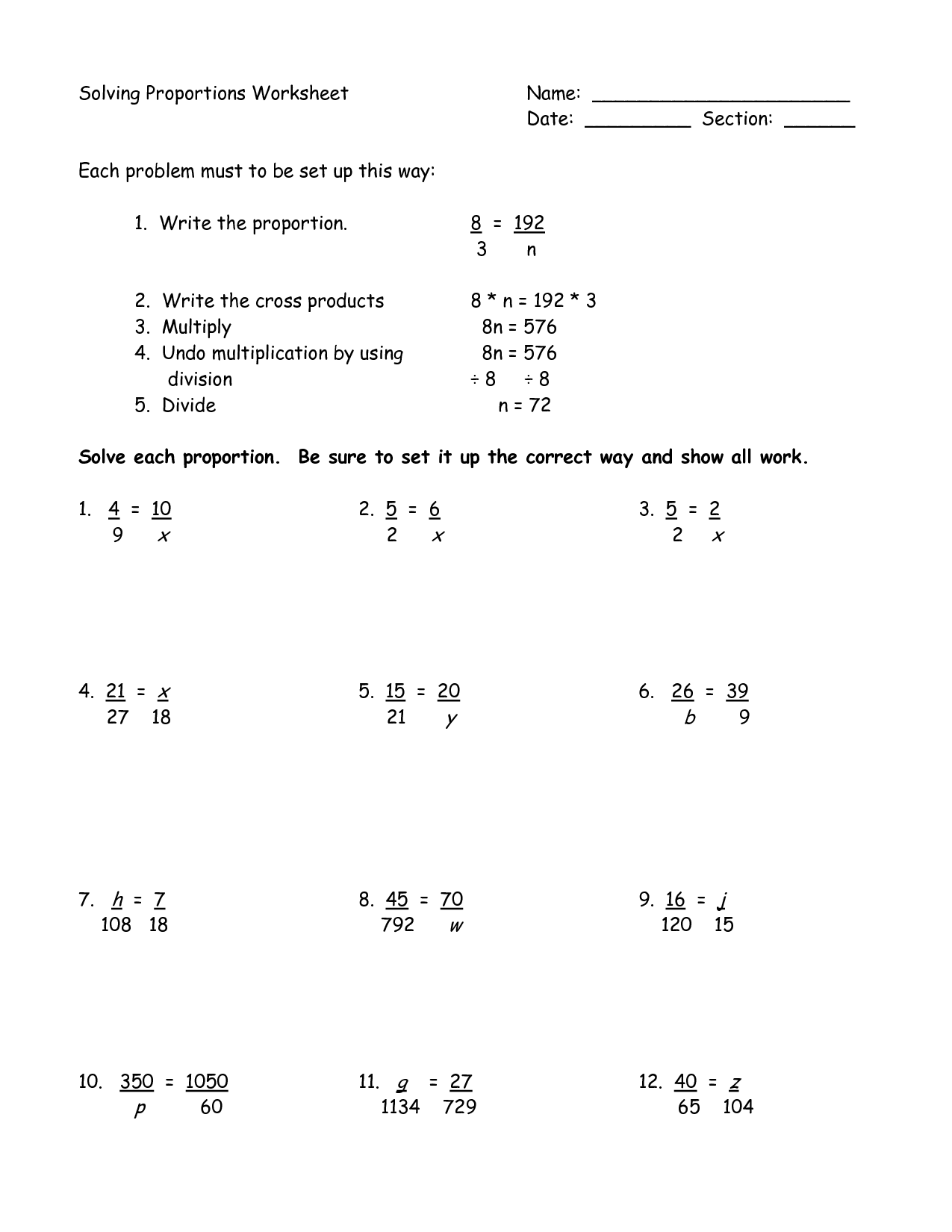 14 Best Images Of 7th Grade Math Worksheets To Print