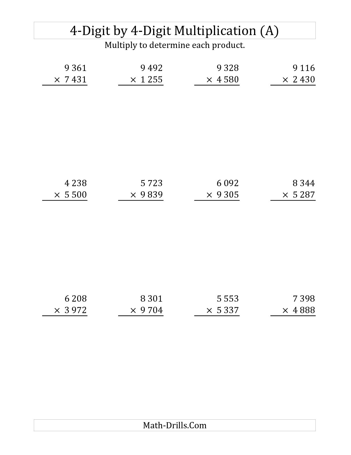9 Best Images Of Long Multiplication Worksheets