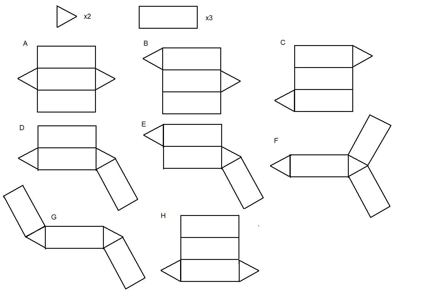 11 Best Images Of 3d Shape Nets Worksheet