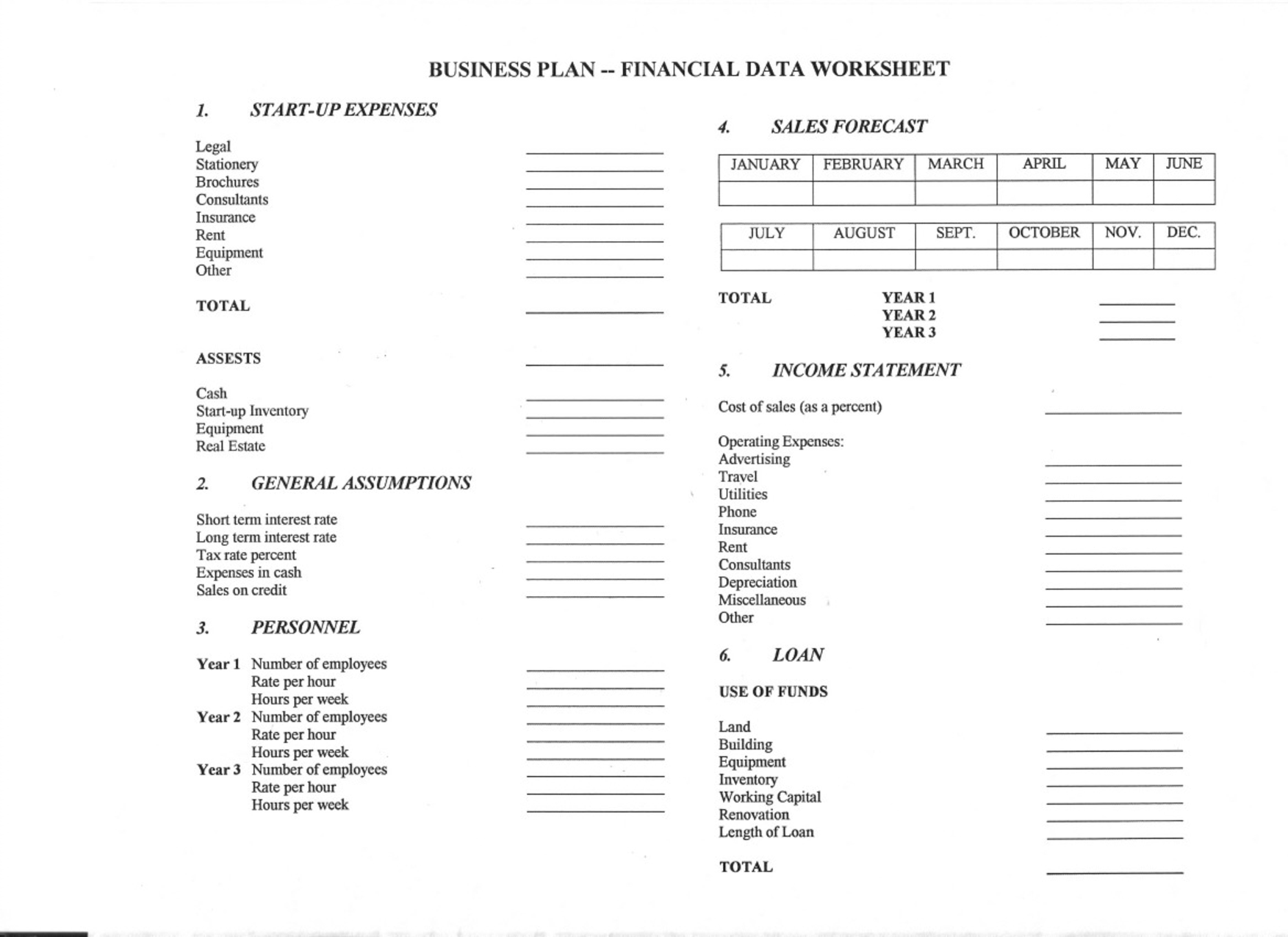 12 Best Images Of Personal Balance Sheet Worksheet