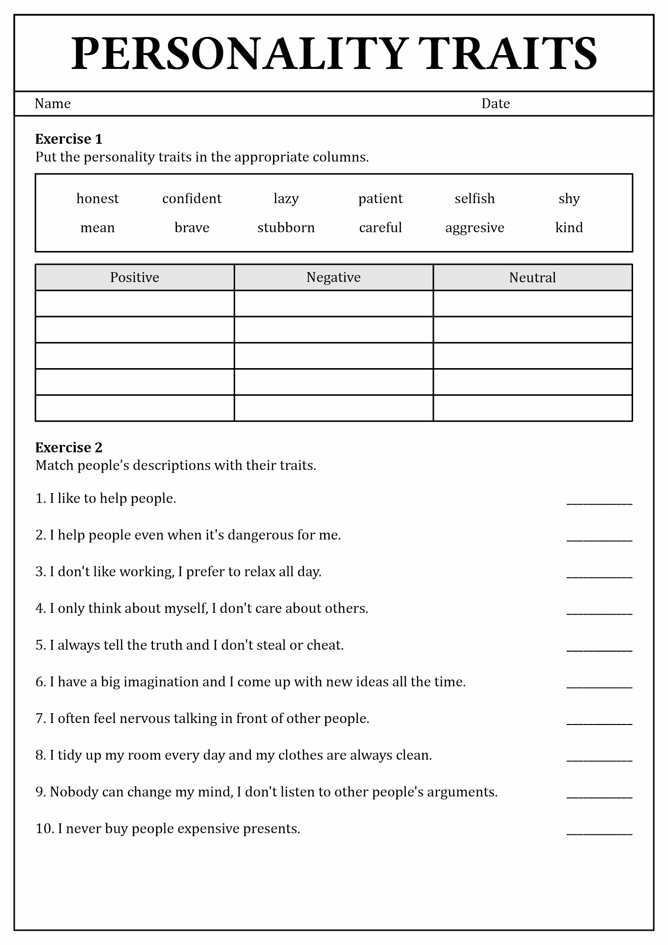 18 Best Images Of Personality Styles Assessment Worksheet