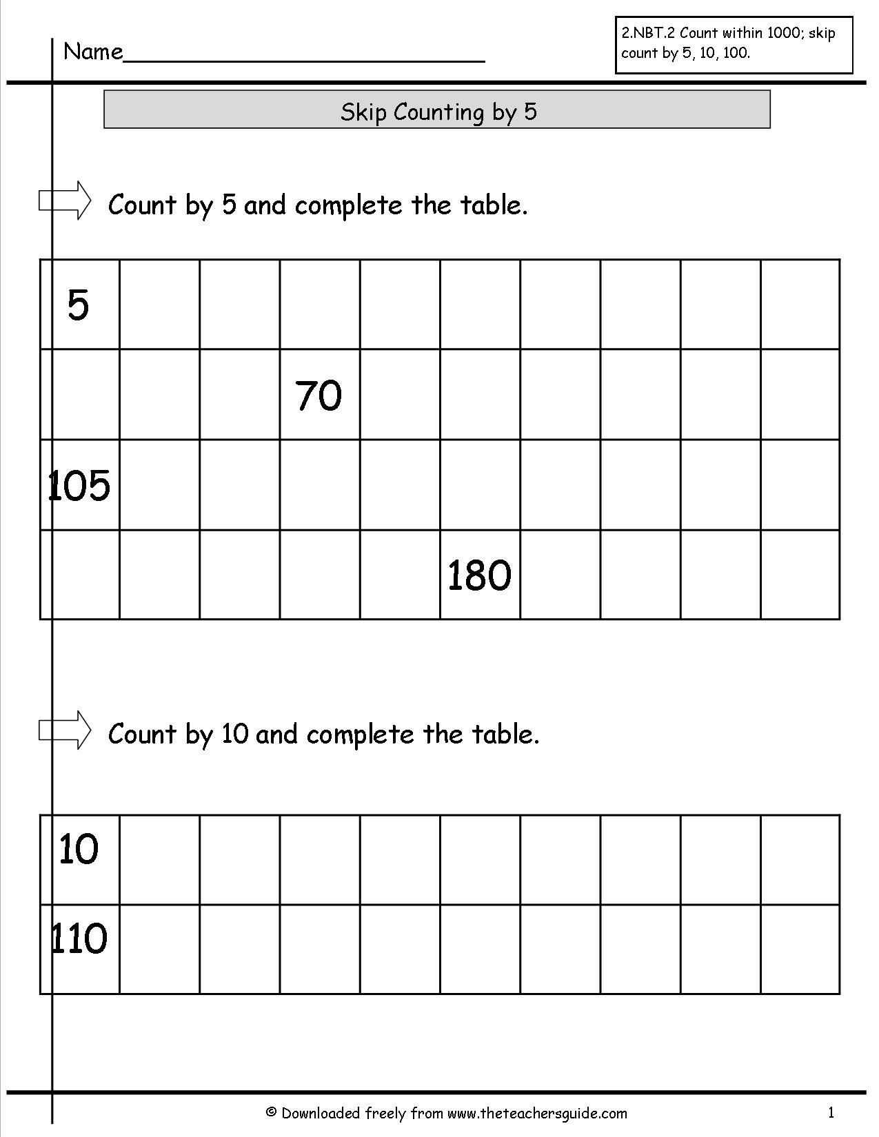 16 Best Images Of Skip Count By 5s Worksheet