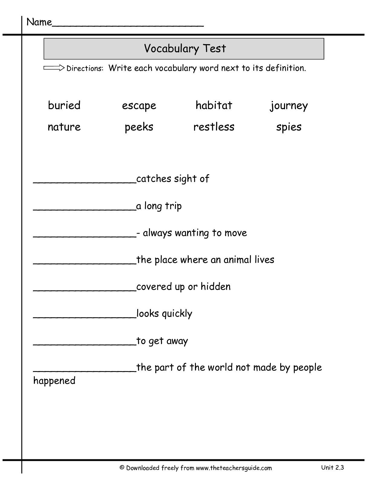 14 Best Images Of Science Vocabulary Word Worksheets