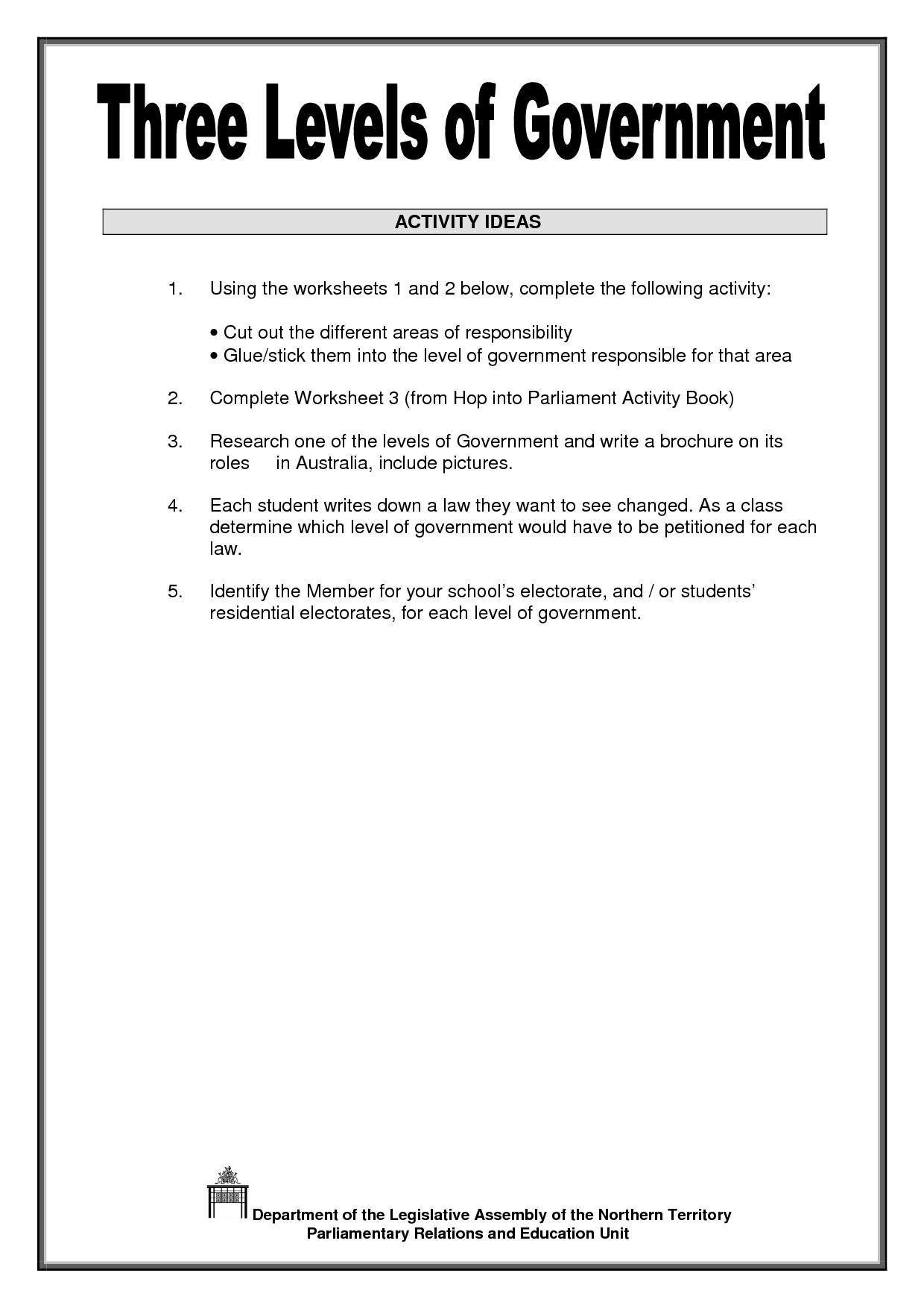 12 Best Images Of Three Branches Of Government Worksheet