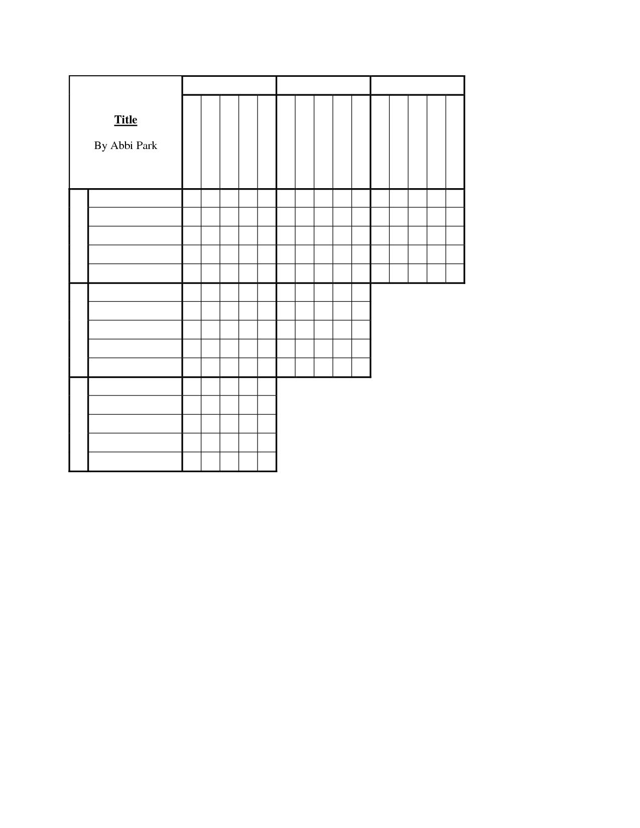 9 Best Images Of Blank Crossword Puzzle Worksheet