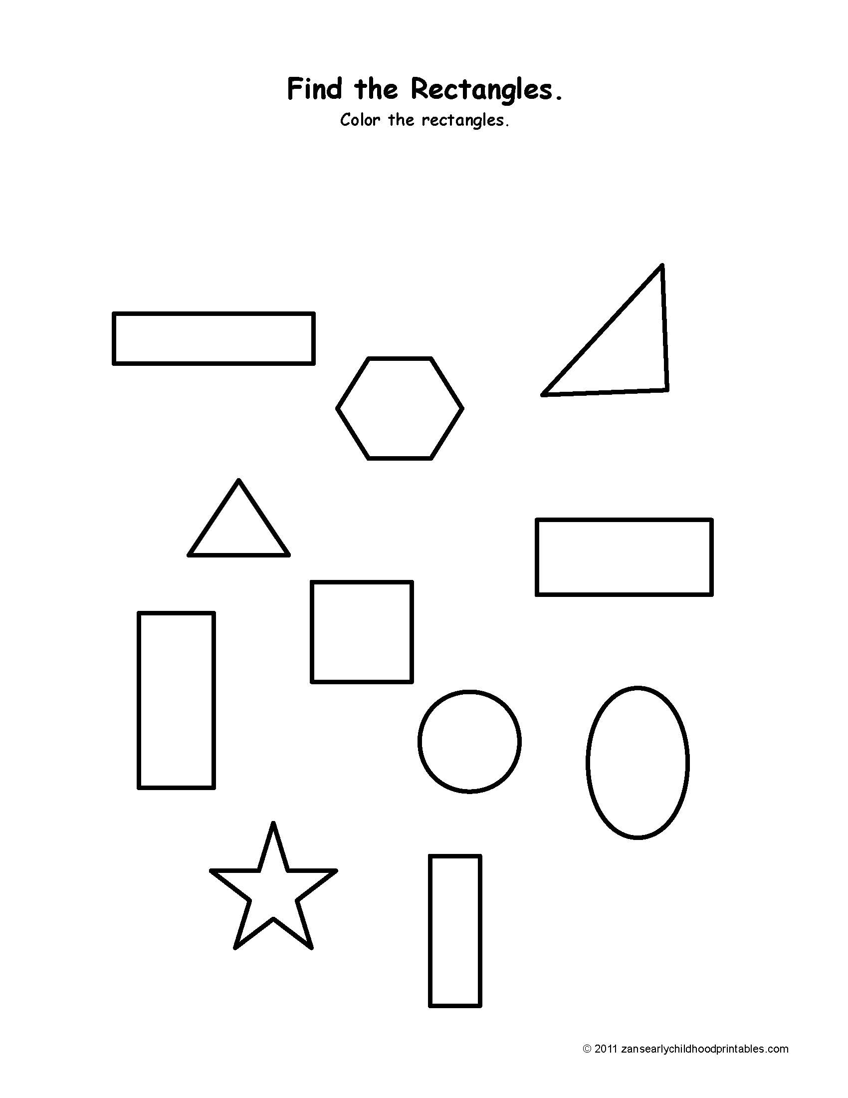Rhombus Kindergarten Worksheet