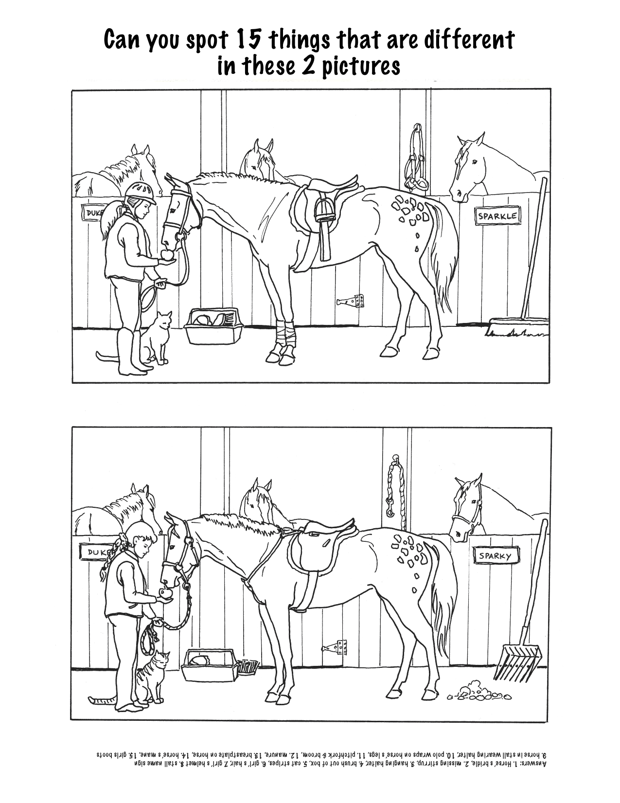 14 Best Images Of Spot The Difference Worksheets For Adults