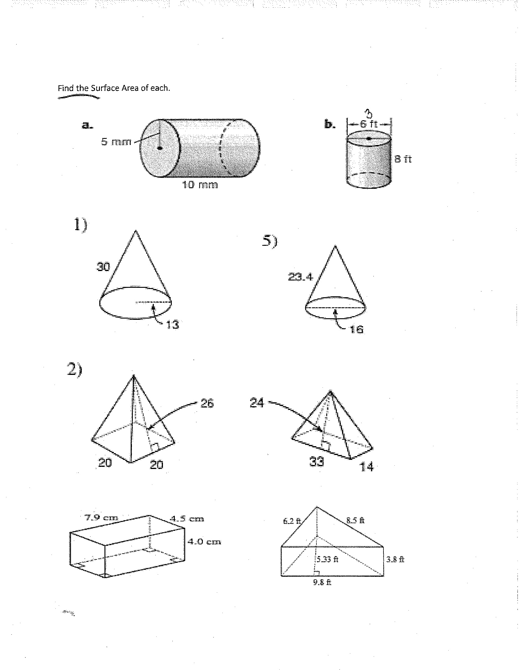 16 Best Images Of Volume Worksheets 8th Grade
