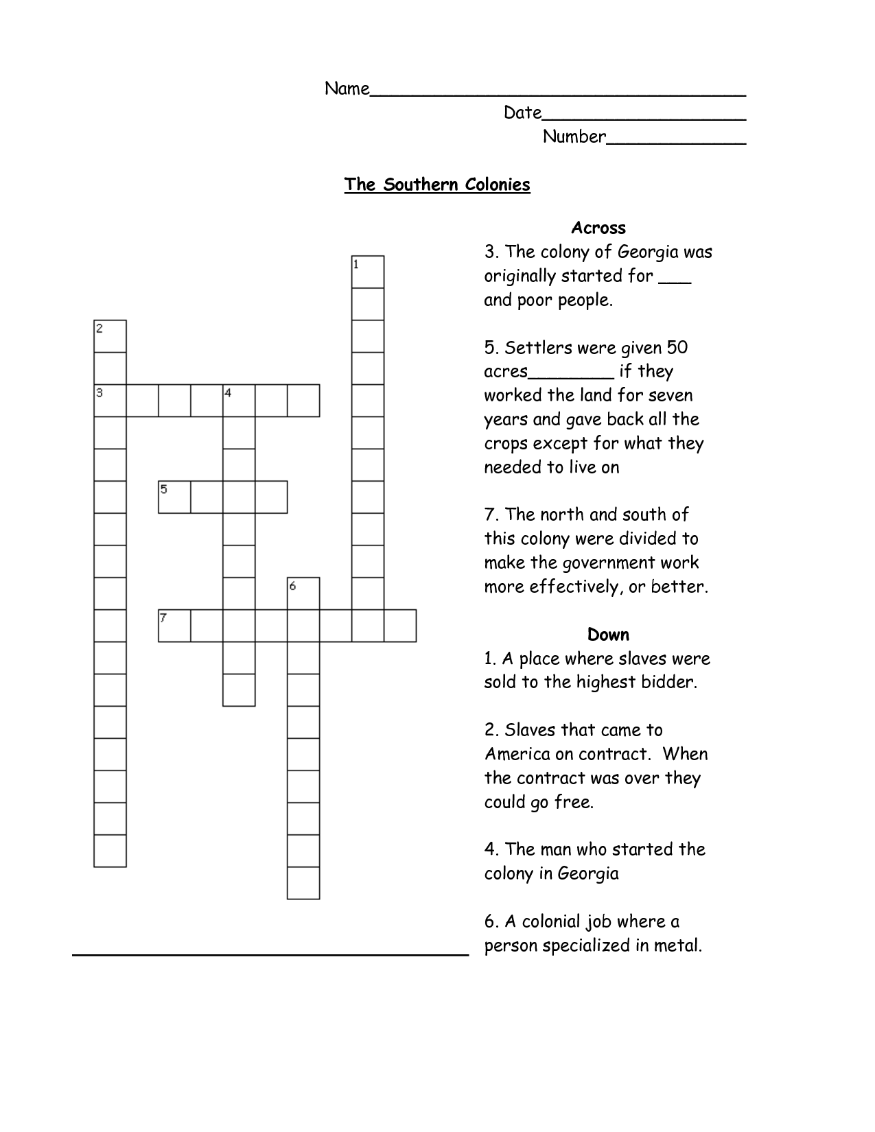 5th Puzzle Worksheet