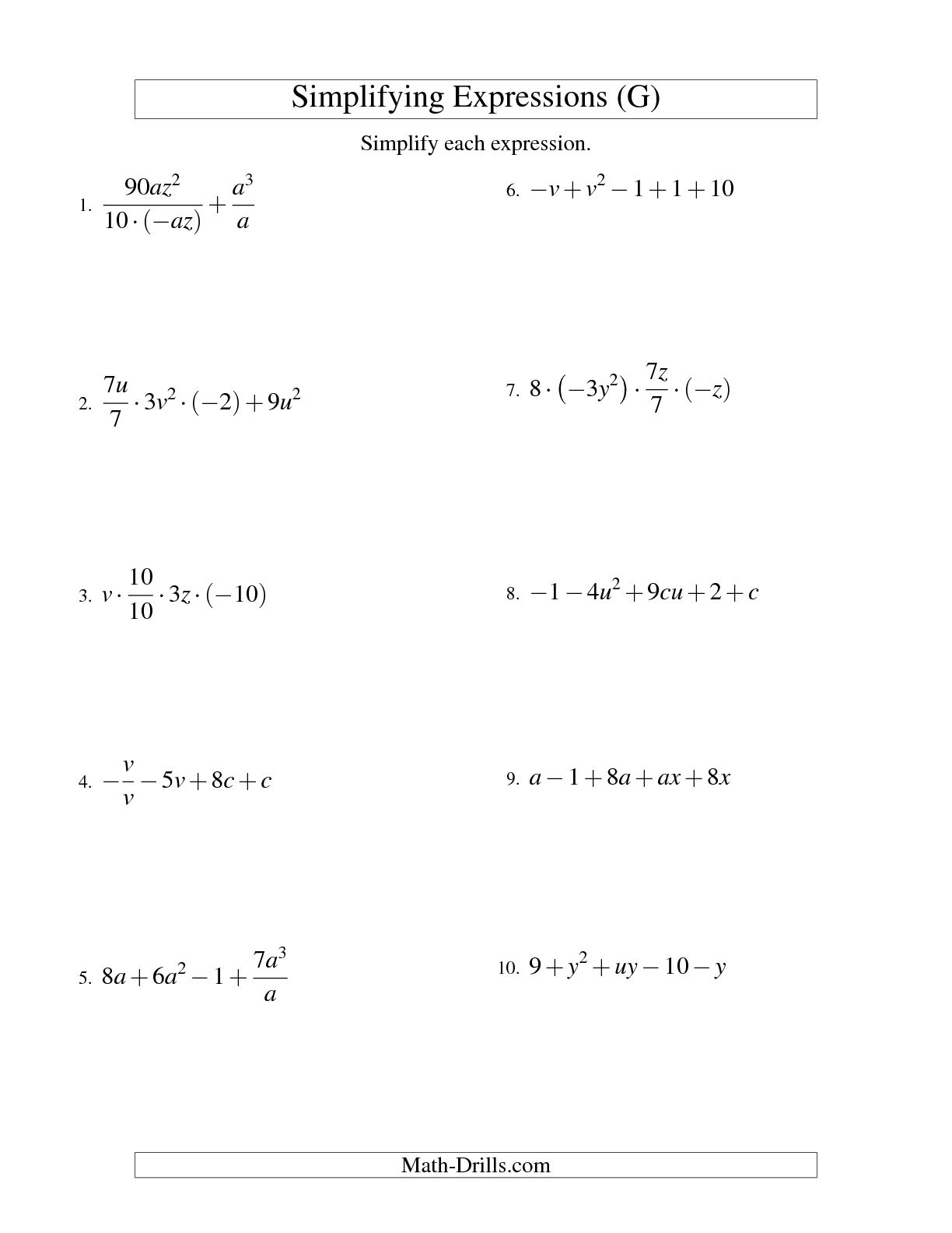 14 Best Images Of Order Of Operations Algebra Worksheet