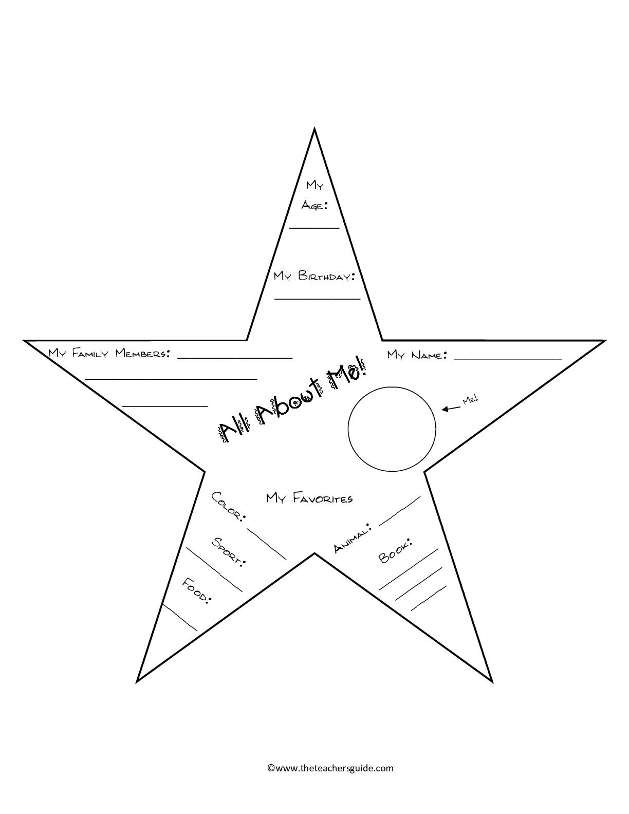 14 Best Images Of Star Printable Kindergarten Worksheets