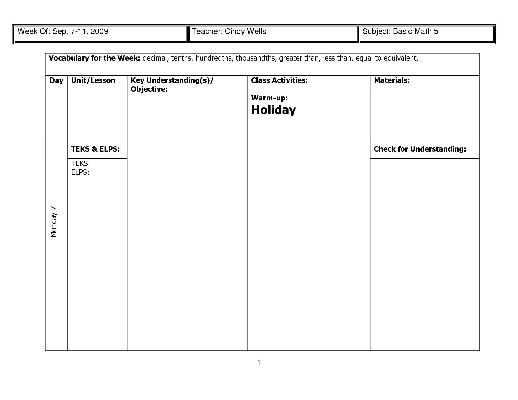 Decimal Tenths Grid Worksheet