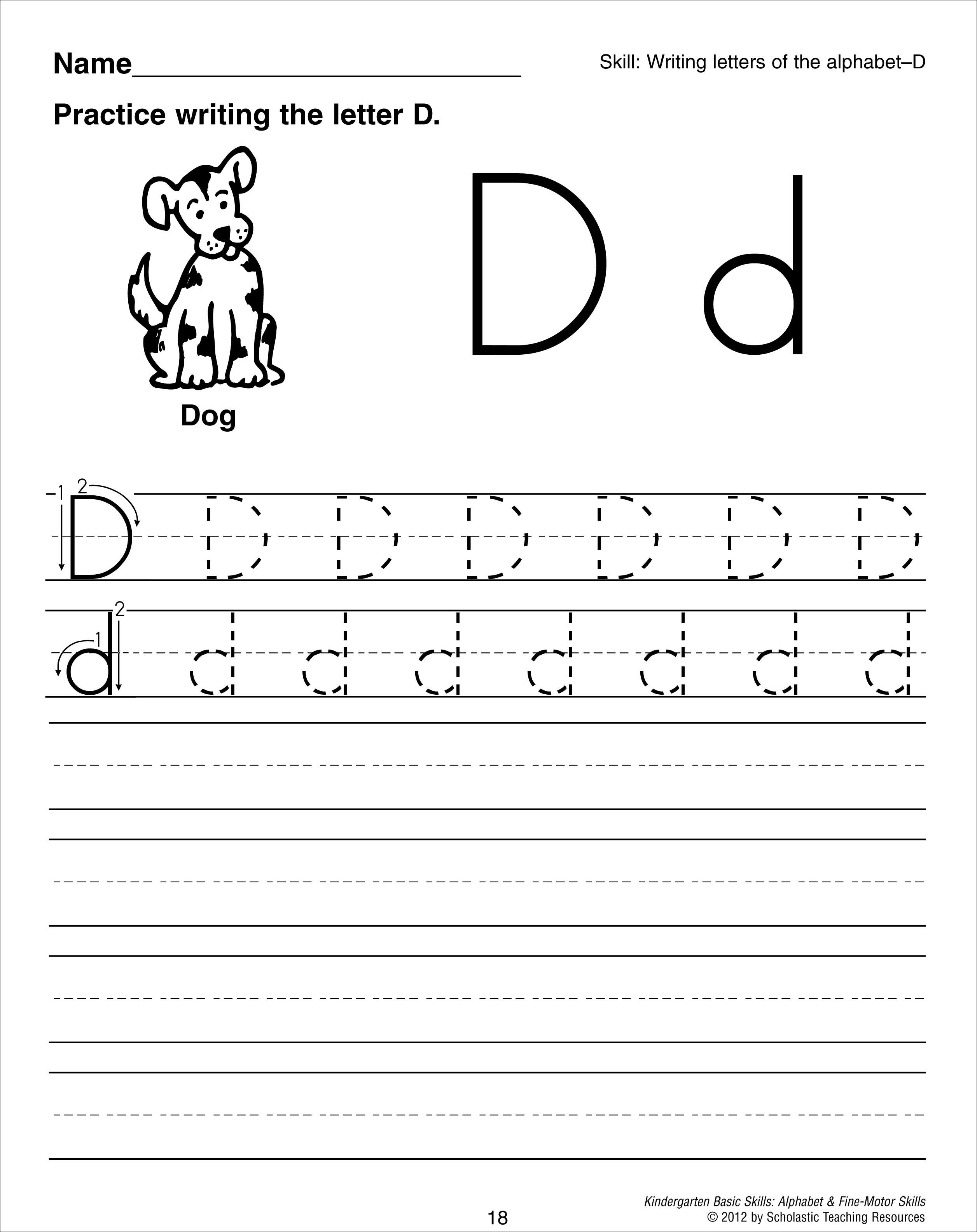 12 Best Images Of Letter D Worksheets Preschool