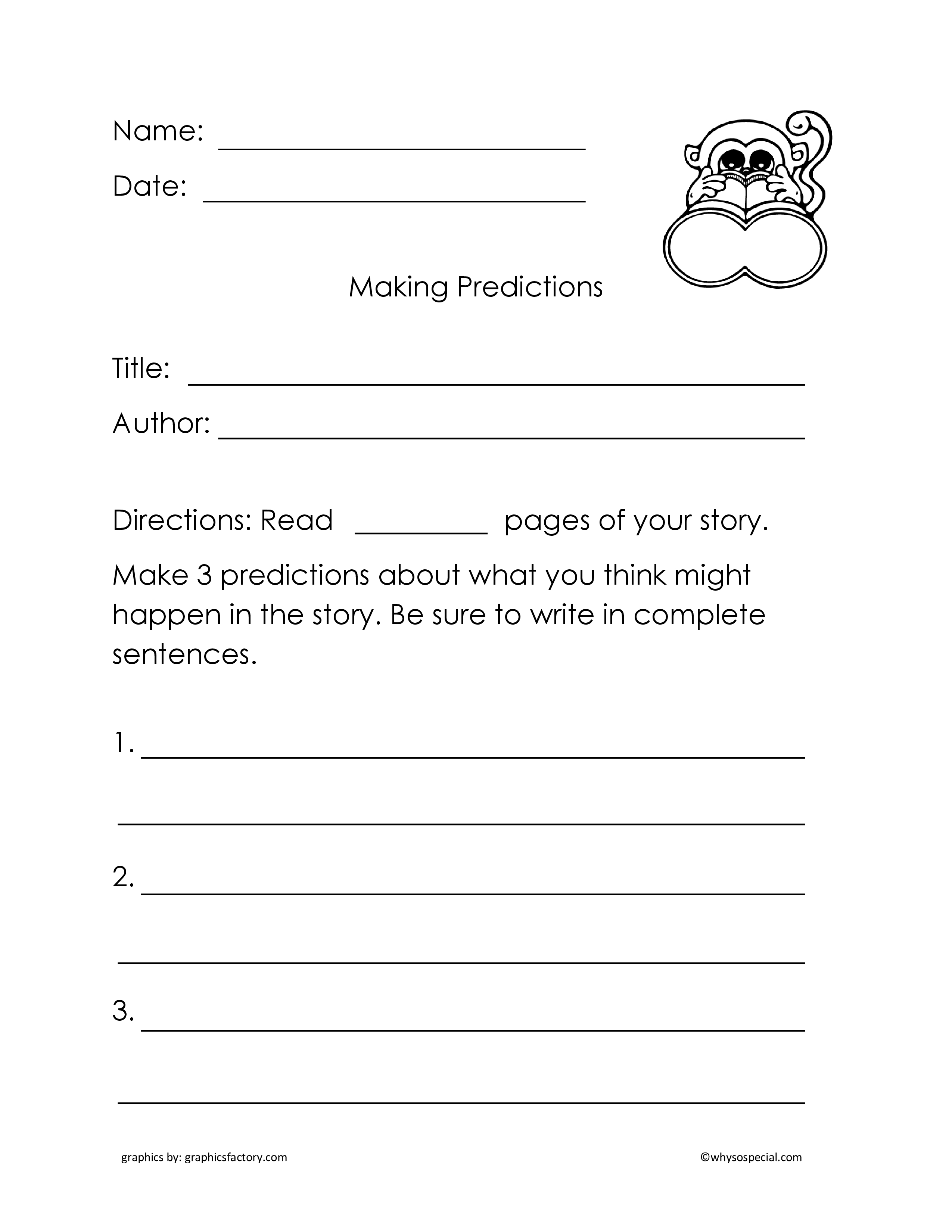 13 Best Images Of Making Predictions Worksheets 3rd Grade