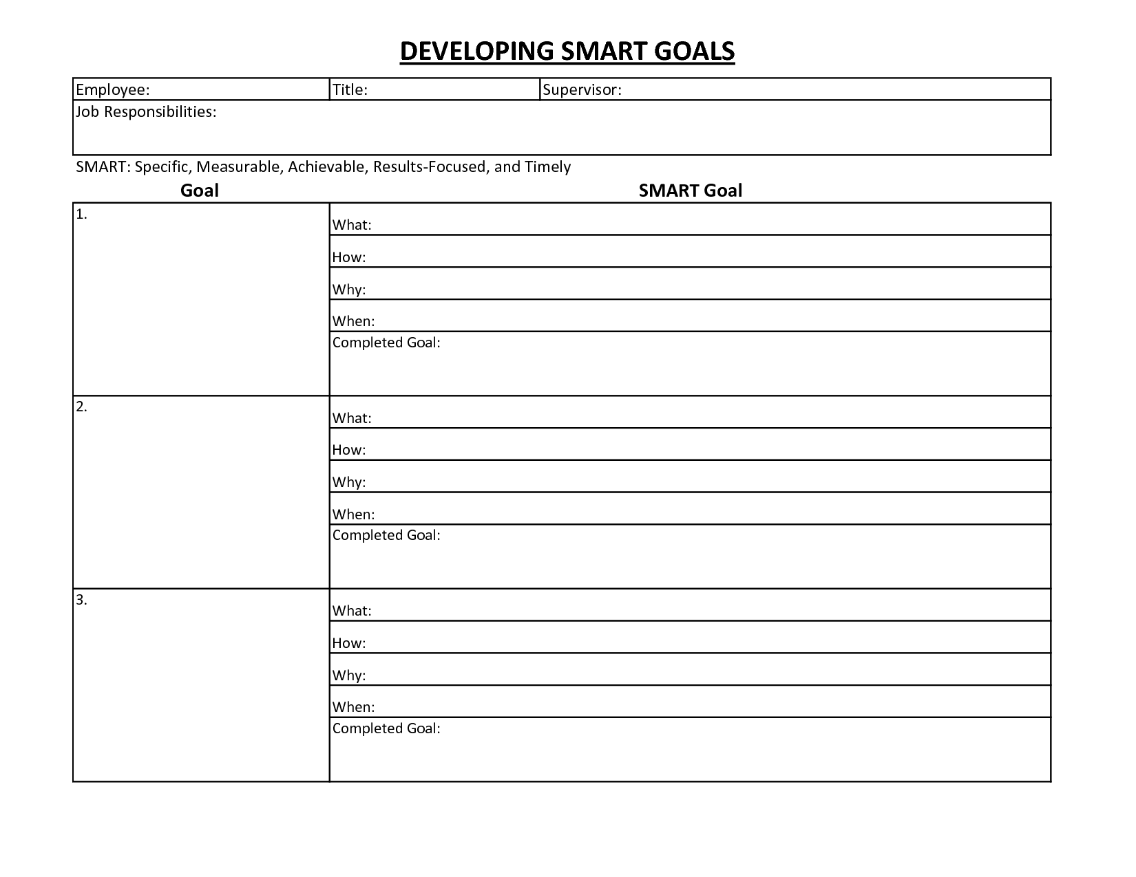 14 Best Images Of Goal Planning Worksheet