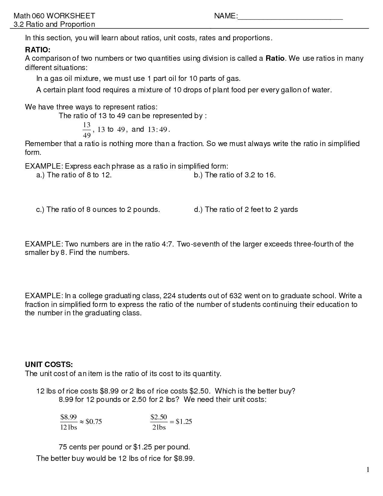 6 Best Images Of Ratio Language Worksheets