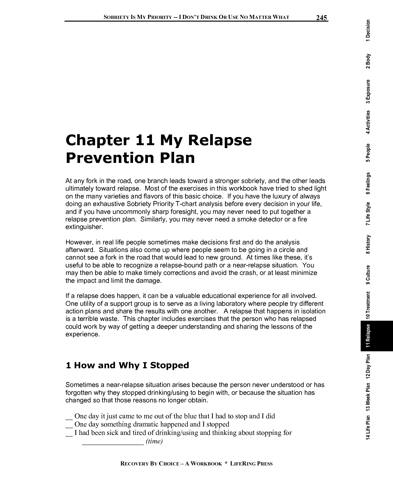 19 Best Images Of Relapse Prevention Worksheets