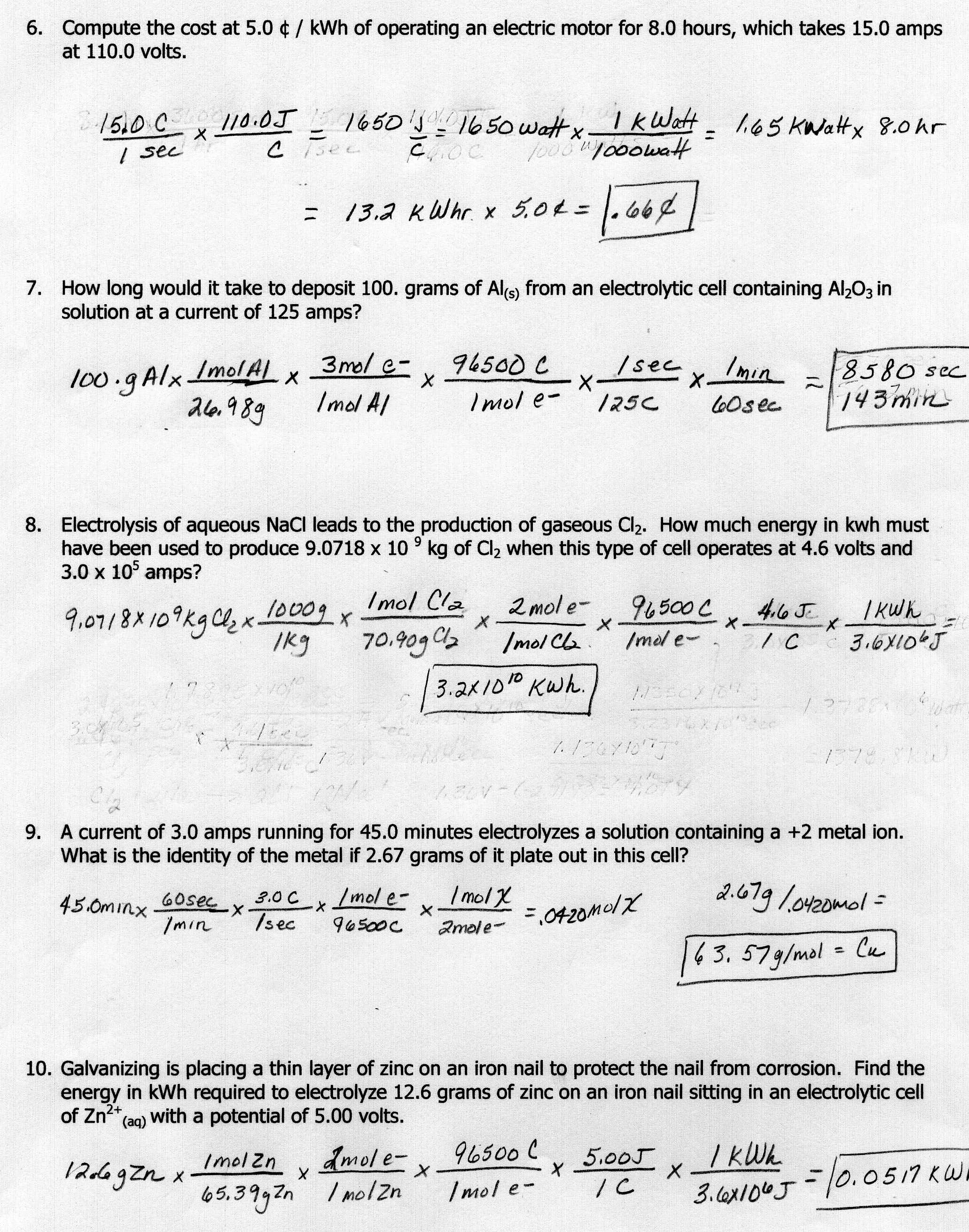 8 Best Images Of Mole Ratio Worksheet