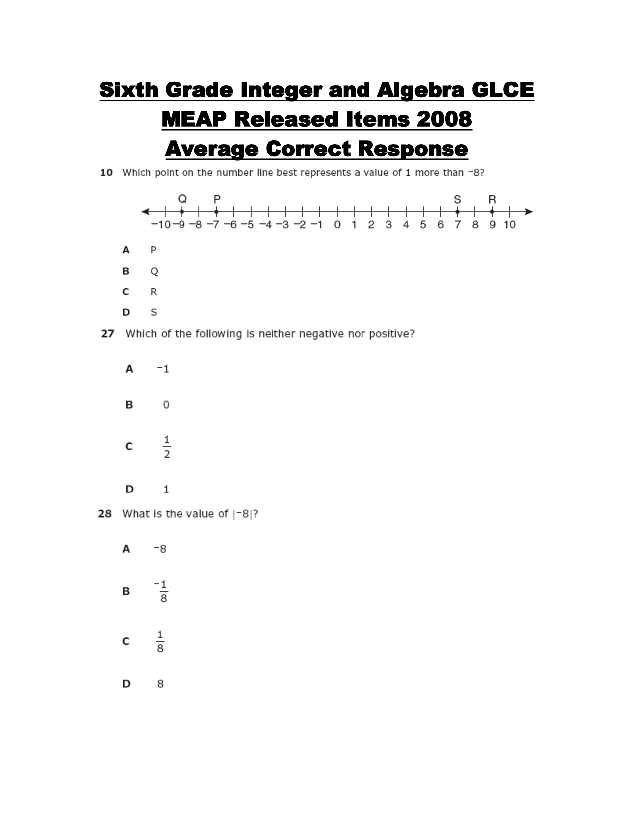 14 Best Images Of Integer Worksheets Grade 7
