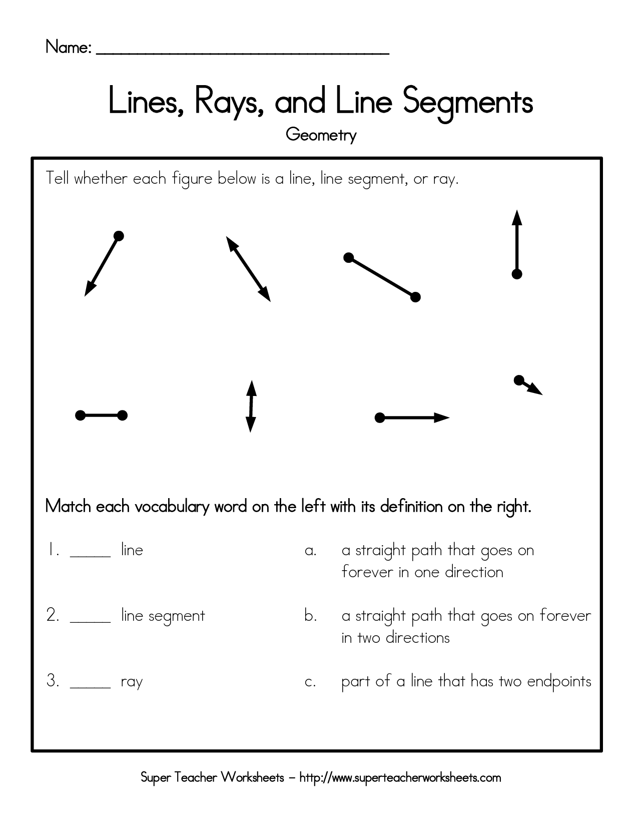 14 Best Images Of Geometric Lines Worksheets