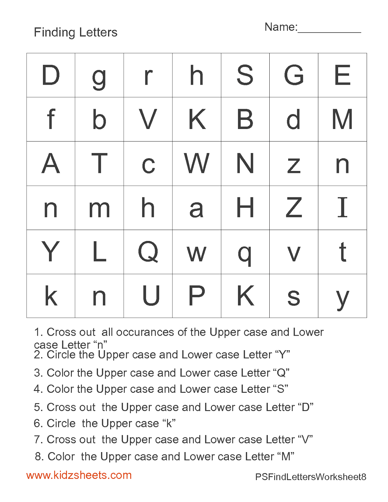 13 Best Images Of Kindergarten Worksheets Alphabet Letter Word Search