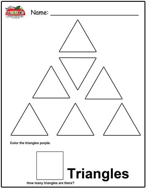 Triangle Worksheets For Toddlers
